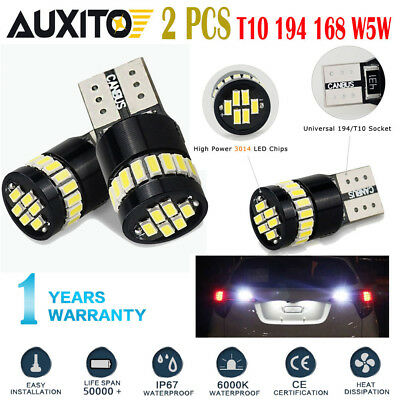 2x CANbus 6000K 24SMD T10 High Power White LED Lights Bulbs 194 168 175 W5W 3014