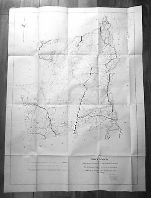 1912 Essex County NY Map of Highways Constructed, Under Contract & Approved