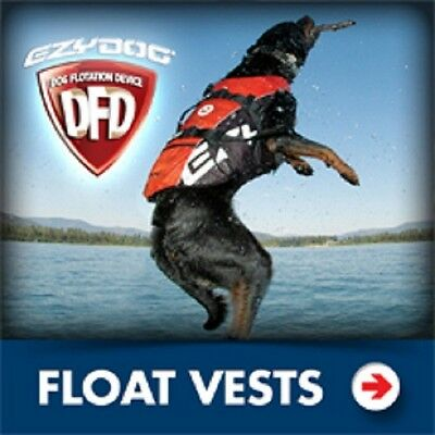 Ezydog Flotation Vest Life Jacket Red Medium Size Boating 4 Man`s Best Friend