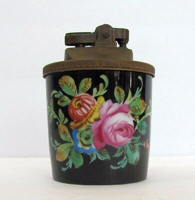 Vintage Hand Painted French Limoges Table Lighter