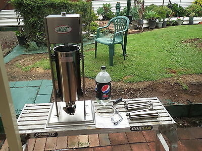 Vertical 5lt Stainless Steel Manual Meat Sausage used only a few times
