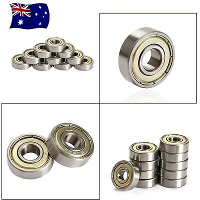 10pcs Skate Ball Roller Bearings for Skateboard 3D Printer RepRap 608ZZ ABEC-5