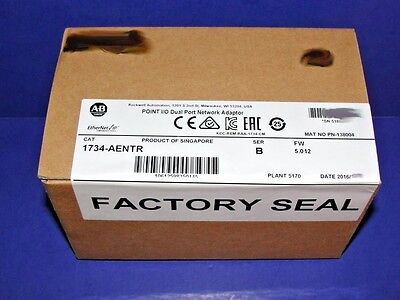 2016 FACTORY SEALED Allen Bradley 1734-AENTR Series B Ethernet Network POINT I/O