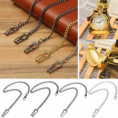 🇬🇧 Retro Antique Vintage Fob Pocket Watch Chain Watches Jewelry Necklace UK