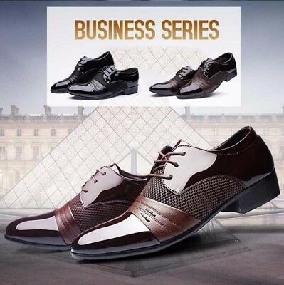 Fashion Men Dress Wedding Formal Oxfords Leather Shoes Business Casual Shoes SZ