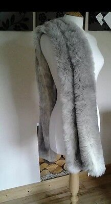Britta Collection Silver Fox Grey Fur Shrug Mother Of The Bride Luxury Stole £89