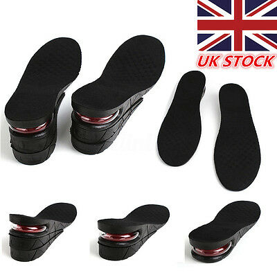 7cm Shoe Lift Height Increase Heel Insoles Insert Taller Air Bubble Cushion UK