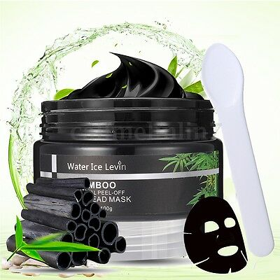 Bamboo Charcoal Peel-off Face Nose Pore Acne Blackhead Remover Cleansing Mask UK