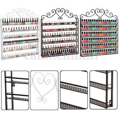 3/5/6 Tier Metal Wall Mounted Nail Polish Rack Organizer Display Holder Shelf UK
