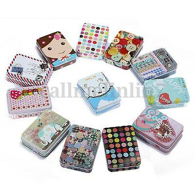 New Retro Metal Storage Pill Box Jewelry Case Vintage Iron Decor Small Tin Box