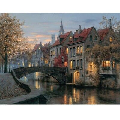 Modern House Oil Painting Print Picture on Canvas Home Wall Art Decor Unframed
