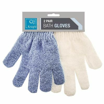 Bath Gloves Exfoliating Body Scrub Shower Massage Tan Dead Skin Removal Sponge