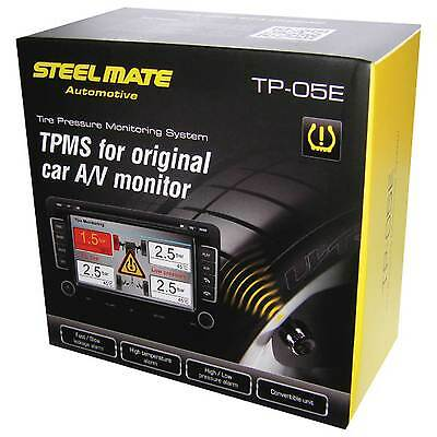 Steel Mate TPMS Tyre Pressure / Temperature Monitor With External Sensors