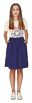 Blu (NAVY BLUE) (TG. Medium) PEPALOVES - Skirt Eloisa Navy, Gonna da donna, blu