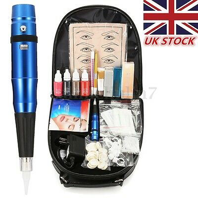 New Complete Microblading Eyebrow Tattoo Permanent Makeup Tattoo Machine Set UK