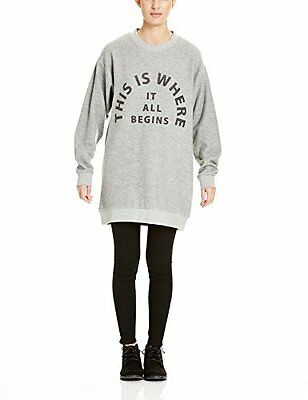 Grau (Mid Grey Marl GY001X) (TG. X-Small) Bench Arrangement, Felpa Donna, Grau (
