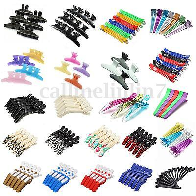 Hairdressing Pastel Salon Butterfly Crocodile Hair Claw Section Clip Clamps UK