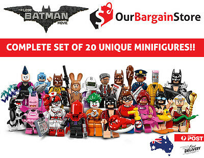 LEGO Minifigure 71017 Batman Movie | COMPLETE SET!! Genuine Minifigures | FRE...