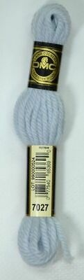 DMC Tapestry Wool, 8m SKEIN, Colour 7027 ULTRA VERY LIGHT BABY BLUE