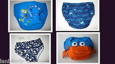 BOYS Swim Nappy REUSABLE Baby Bathers BNWT Size 000 00 0 1 2  ** Free Post**
