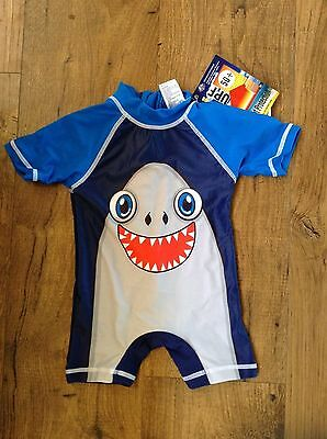 BNWT- SHARK Navy Baby BOYS Swimwear Bathers Swimsuits 000 00 0 1 UPF 50+