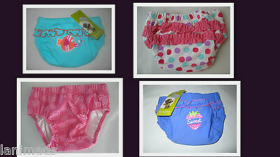 GIRLS Swim Nappy REUSABLE Baby Bathers BNWT Size 000 00 0 1 2  ** Free Post**