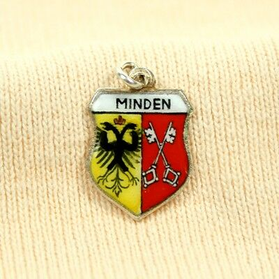 ANTIKO Bettel Armband Wappen Anhänger Charm Pendant Emaille Silber 800 Wesel WE2
