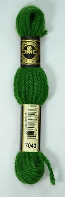 DMC Tapestry Wool, 8m SKEIN, Colour 7043 BRIGHT GREEN