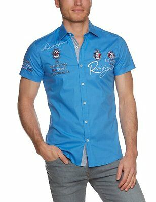 Blau (Blue) (TG. XXXX-Large) Redbridge - Camicia casual, Uomo, Blau (Blue), 4XL