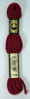 DMC TAPESTRY WOOL, 8m SKEIN, Colour 7110 DARK RED