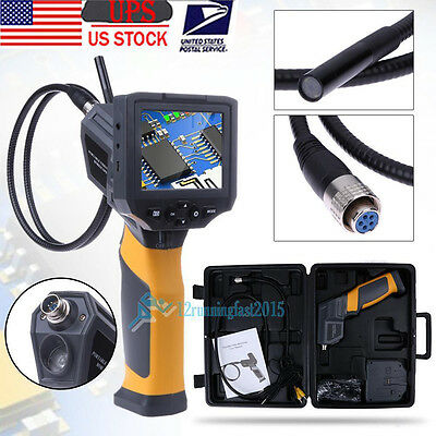 "New 3.5"" TFT IP67 Industrial Video Borescope Endoscope Tube Inspection Camera US"