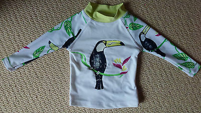 NWT Charlie & me Baby Girls Toucan Long Sleeved Rash Vest Rashie Size 00