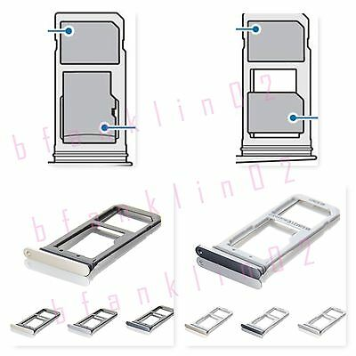 Genuine Samsung Galaxy S7 Edge Single Dual Sim Card Reader Holder Slot