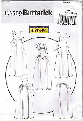 Vintage Early 1900s 20th Century Bib Half Aprons Victorian Sewing Pattern S M L