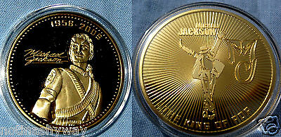 Michael Jackson Coin Gold Autograph Signature Megastar Legend MJ Hall of Fame US