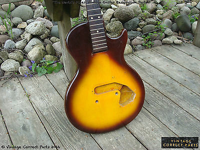 Vintage 1959 1960 Gibson Melody Maker HUSK - Project Body - 3/4 scale NICE WOOD