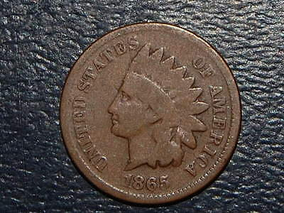 1865 Indian Head Penny Nice Coin (2564)