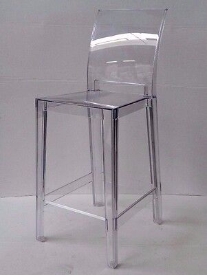 KARTELL 05895B4 ONE MORE PLEASE Crystal stool - 1 pc PRESENTATION
