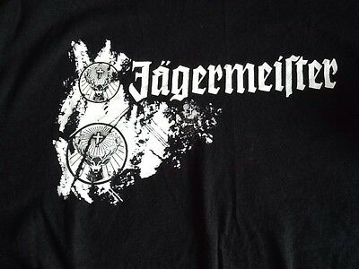 Jagermeister Tee Size XL Graphic T-shirt Short Sleeve Black Promo New