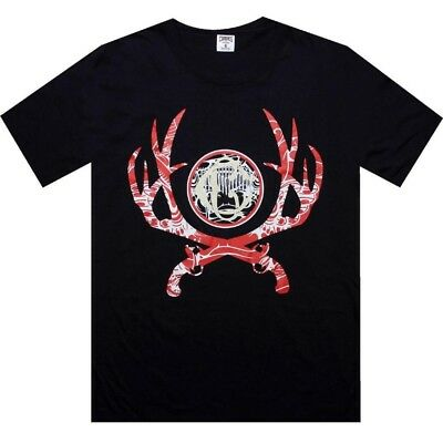 $32 Crooks and Castles Crossing Guns Tee (dark navy) CC990716DKN