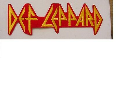 set of 2 LARGE DEF LEPPARD VINTAGE IRON PATCH  LICENSED 9.25""