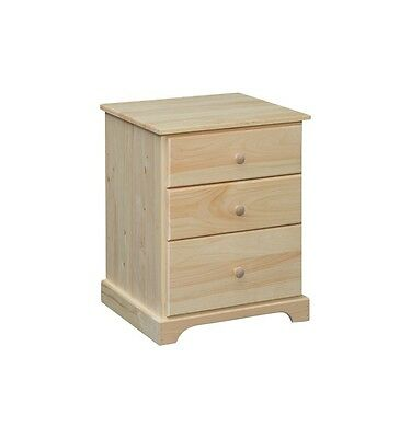 AMISH ~ Rustic Pine UNFINISHED COUNTRY - SHAKER 3 Drawer NIGHTSTAND DOVETAILED