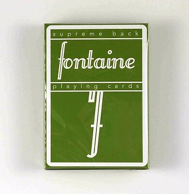 Brand New Rare Green Fontaine Playing Cards Deck