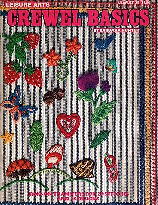 Leisure Arts CREWEL BASICS Barbara Hunter 20 stitches, 25 designs