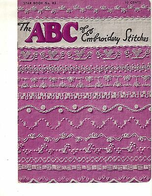 American Thread Co THE ABC OF EMBROIDERY STITCHES