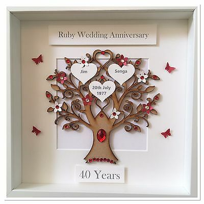 Personalised Tin Wedding 10 Years Anniversary Gift Picture Frame