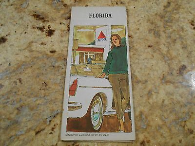 1967 Florida road map Citgo oil early interstate     free shipping!!!!