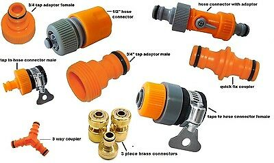 Selection Tap Adapter Brass Connector Hose Fittings Joiner Coupler Garden Nozzle