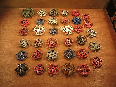 35 Vintage Valve Handles Water Faucet Knobs STEAMPUNK Industrial Arts Crafts #C