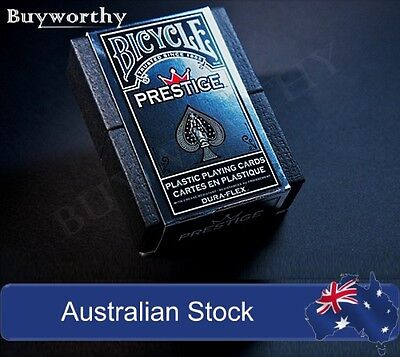 Prestige Playing Cards Bicycle Poker Deck Red Edition 100% Plastic with Case